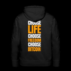 Logo choose bitcoin white - Sweat-shirt à capuche Premium pour hommes