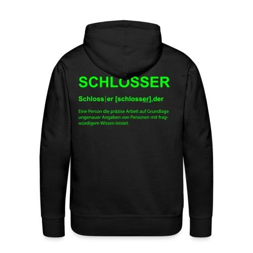 Schlosser Bezeichnung - Männer Premium Hoodie