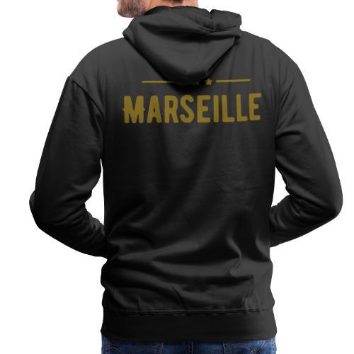 marseille in Goldener Schrift - Männer Premium Hoodie