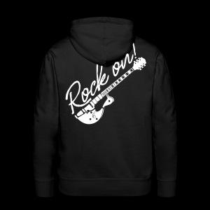 Rock On mit Gitarre - Männer Premium Hoodie