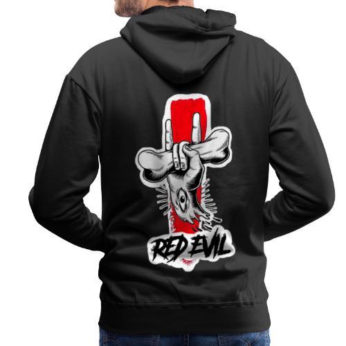 RED EVIL HAND EYE - Sweat-shirt à capuche Premium pour hommes