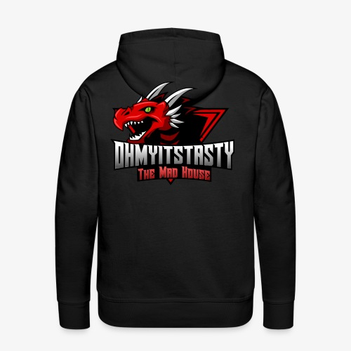 OhMyItsTasty MAD HOUSE logo - Men's Premium Hoodie