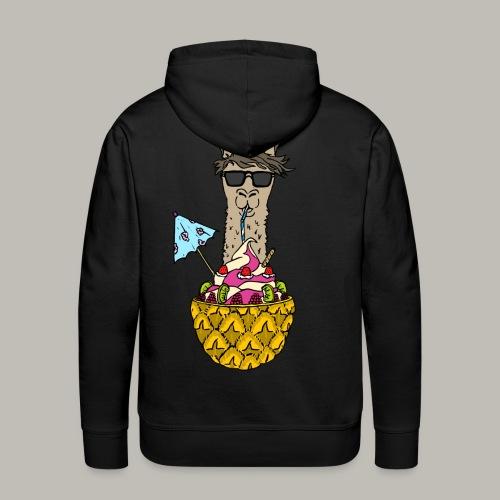 L'ananas gourmand - Sweat-shirt à capuche Premium pour hommes
