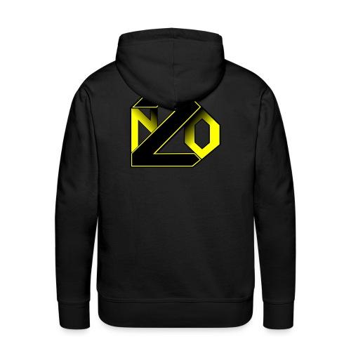 N2O jaune - Sweat-shirt à capuche Premium pour hommes
