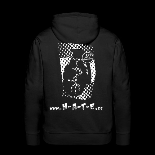 The BACK of 10th HATE Shirt - Männer Premium Hoodie