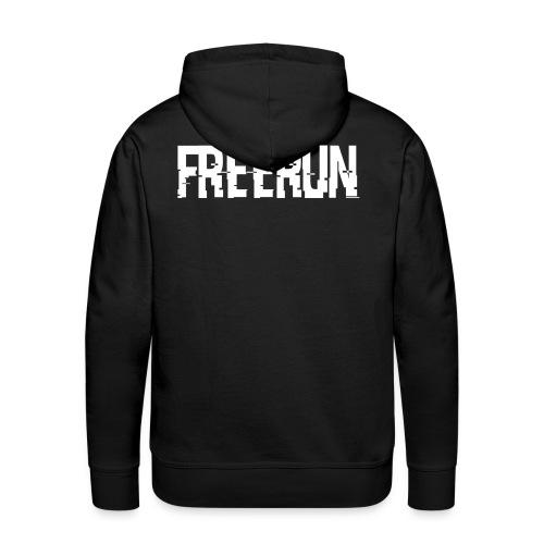 logo freerun - Sweat-shirt à capuche Premium pour hommes