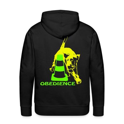 Obedience Deutsch Drahthaar umrundet Pylon neon - Männer Premium Hoodie