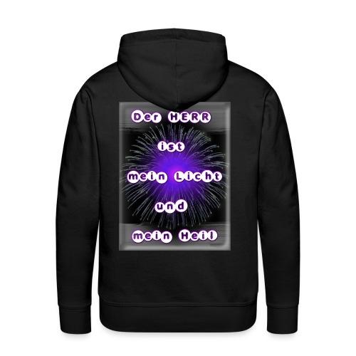Mein Licht und mein Heil (purple) - Männer Premium Hoodie