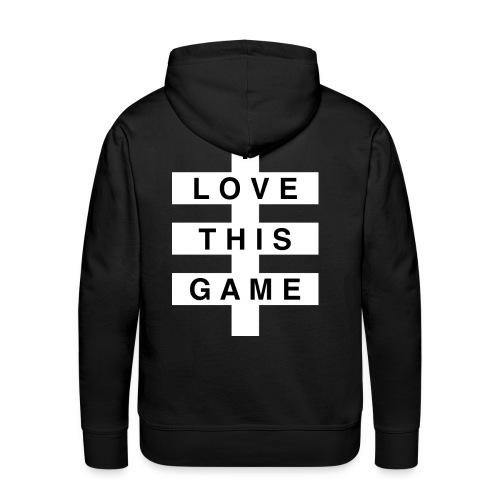 I Love this game // White logo - Mannen Premium hoodie