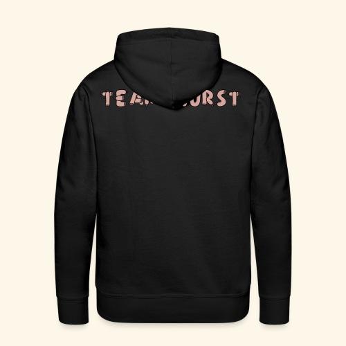 Team Wurst (Rückseite) - Männer Premium Hoodie