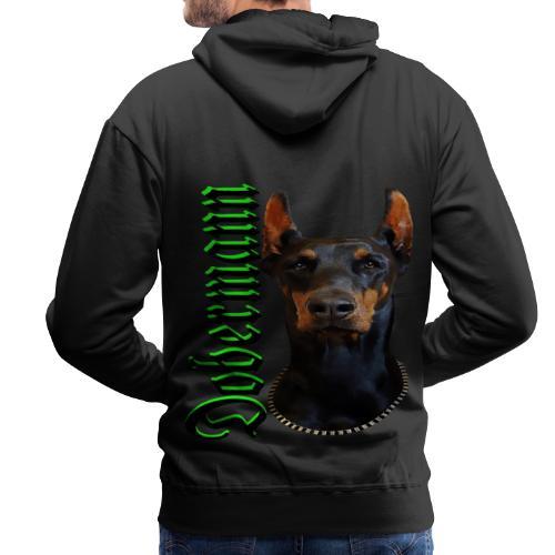 Dobermann Hundekopf Hundesport Hundeliebhaber Hund - Männer Premium Hoodie
