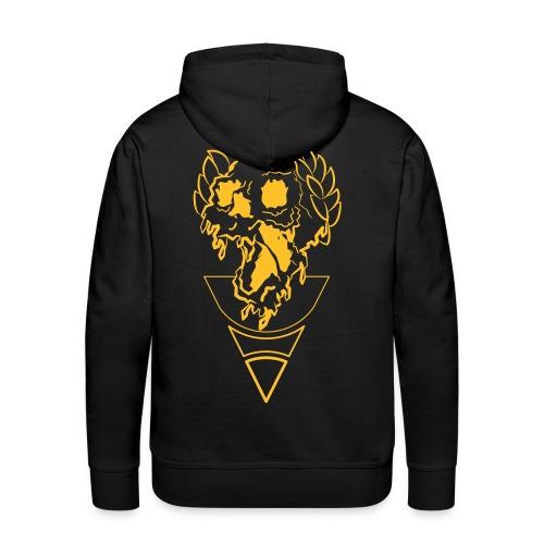 crownded skull - Men's Premium Hoodie