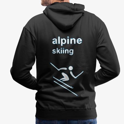 alpine skiing winter games 2reborn - Männer Premium Hoodie