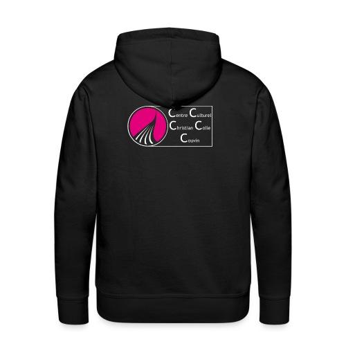ROND CARRE HORIZONTAL SANS NOIR - Sweat-shirt à capuche Premium pour hommes