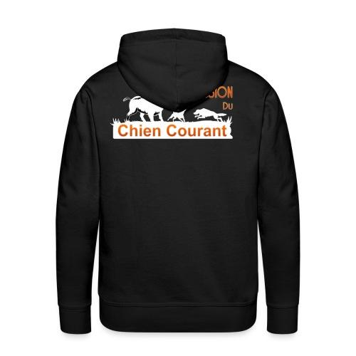 Passion chien courant - Sweat-shirt à capuche Premium pour hommes