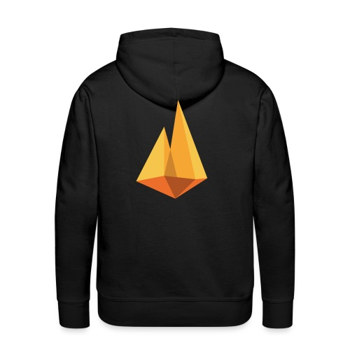 Kampvuur logo - Mannen Premium hoodie