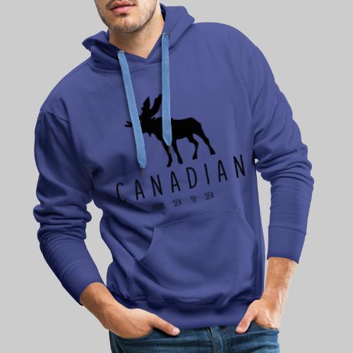 Canadian - Sweat-shirt à capuche Premium pour hommes