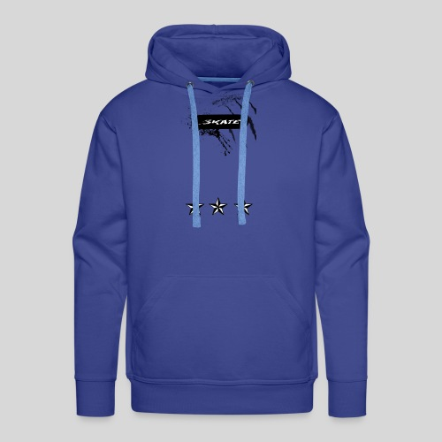 Skate tshirt Triplle stars White - Mannen Premium hoodie