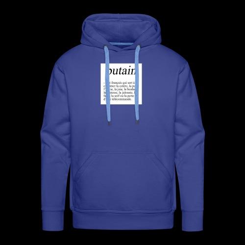 TA PHRASE - Sweat-shirt à capuche Premium pour hommes