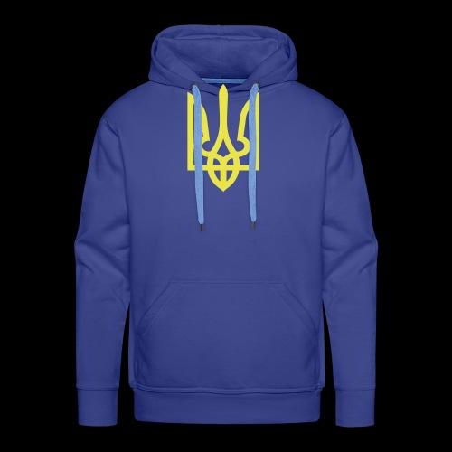 Ukraine Wappen Trident - Männer Premium Hoodie