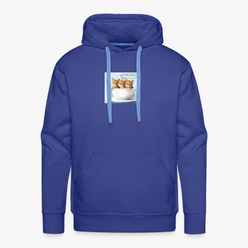 gatito - Sudadera con capucha premium para hombre