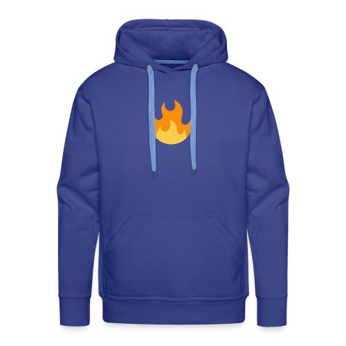 La flamme ! - Sweat-shirt à capuche Premium pour hommes