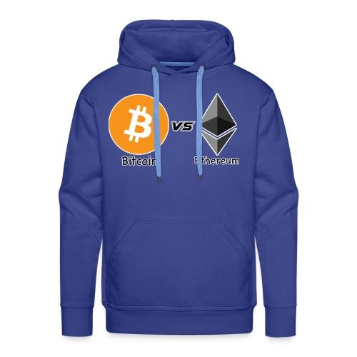 Bitcoin vs ethereum con ok - Felpa con cappuccio premium da uomo