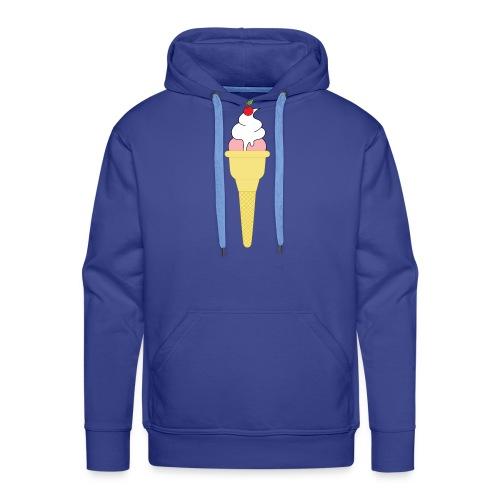 Ice Cream - Felpa con cappuccio premium da uomo