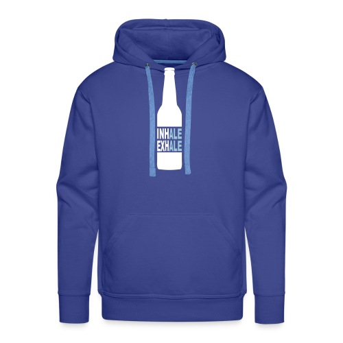 Inhale Exhale Craft Beer T Shirt - Men's Premium Hoodie
