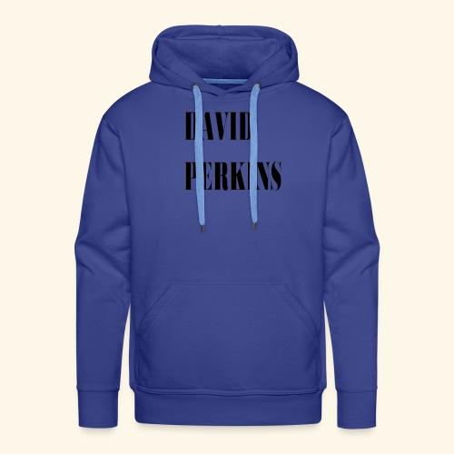 logo David Perkins - Sweat-shirt à capuche Premium pour hommes