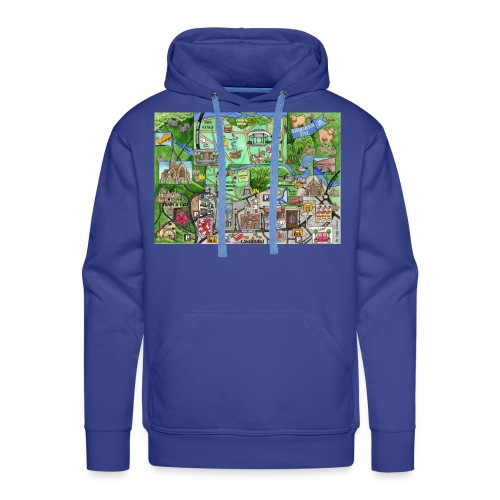 Staycation Live map - Men's Premium Hoodie