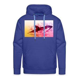 LowpolyWhale - Sweat-shirt à capuche Premium pour hommes
