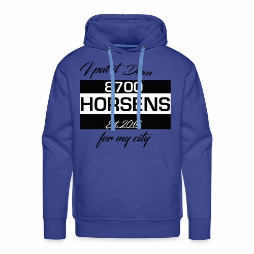 I Put it Down for my City - 8700 Horsens - Hvid - Herre Premium hættetrøje