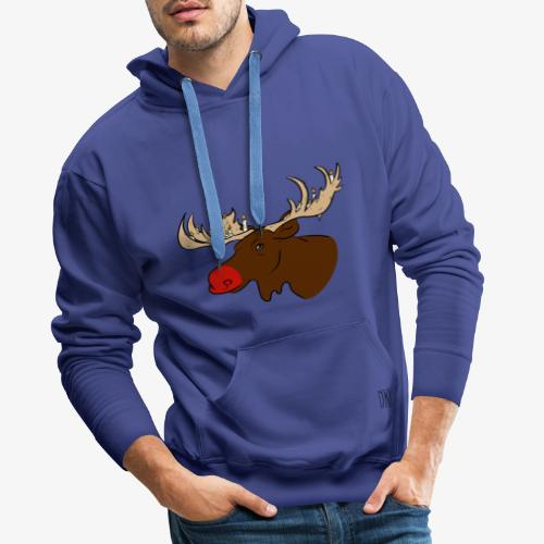Christmas Moose - Männer Premium Hoodie