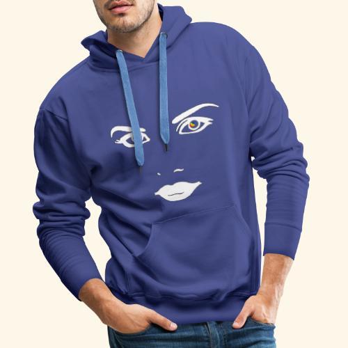 Regard profond 1 - Sweat-shirt à capuche Premium pour hommes