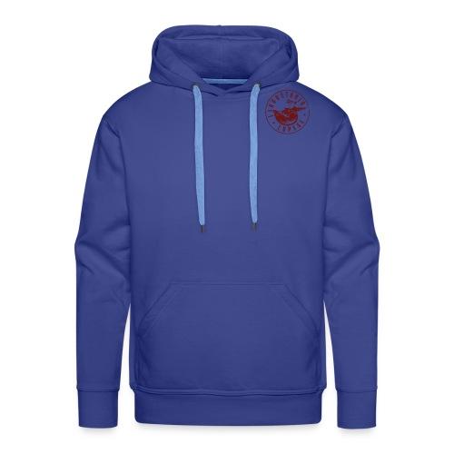 logo rosso - Felpa con cappuccio premium da uomo