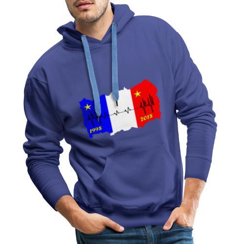 France 2018 coupe du monde les bleus - Sweat-shirt à capuche Premium pour hommes