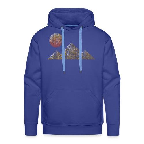 Pyramides hieroglyphic - Sweat-shirt à capuche Premium pour hommes