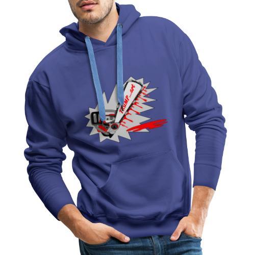 t shirt trump ...art la politique tronconneuse - Sweat-shirt à capuche Premium pour hommes