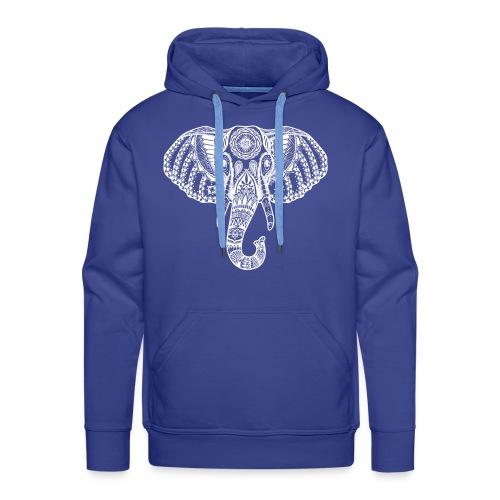 White Elephant india desig Elefant indisch Muster - Männer Premium Hoodie