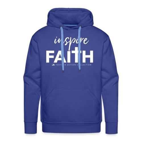 inspire faith white - Mannen Premium hoodie