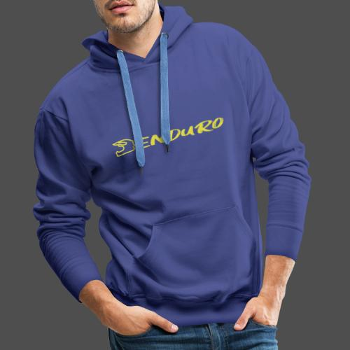 Enduro - Bluza męska Premium z kapturem