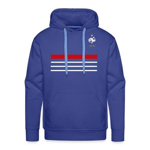 Maillot France 98 - 2018 Equipe de France - Sweat-shirt à capuche Premium pour hommes
