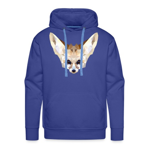 Fennec low poly - Sweat-shirt à capuche Premium pour hommes