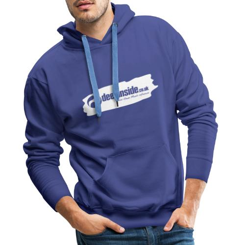 deepinside world reference marker logo white - Men's Premium Hoodie