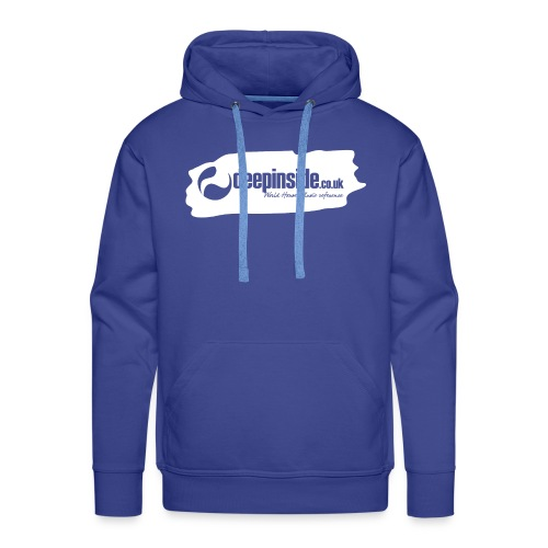 deepinside world reference marker logo white - Men's Premium Hoodie