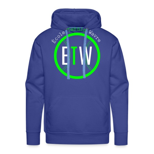 logo rond tennis vert - Sweat-shirt à capuche Premium pour hommes