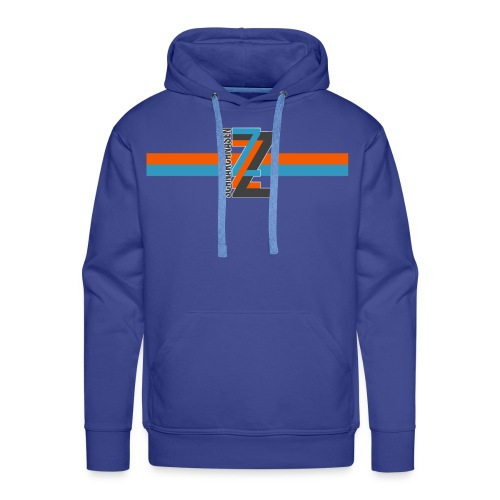 ZZZ BlauOrange - Männer Premium Hoodie