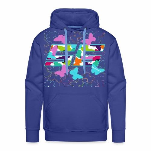 Dorsal mariposas de colores - Sudadera con capucha premium para hombre