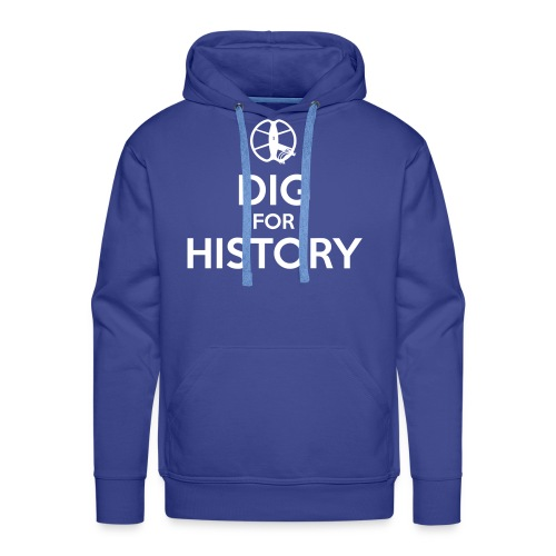 Dig for History 1 - by Detonateur - white - Sweat-shirt à capuche Premium pour hommes